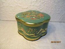 Ancienne boite à thé anglaise à motifs asiatiques