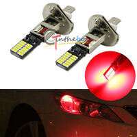 Red 24-SMD-4014 H1 LED Replacement Bulbs For Fog Lights Driving DRL Lamps - 2PC