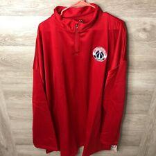 Majestic Mens 5XL Washington Wizards Quarter Zip Jacket NEW