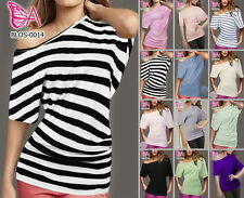 Party Blouses Striped Plus Size Tops & Shirts for Women