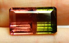 AF Natural bicolor watermelon tourmaline, 11.20ct. 18x10x6mm, rectangular Brasil
