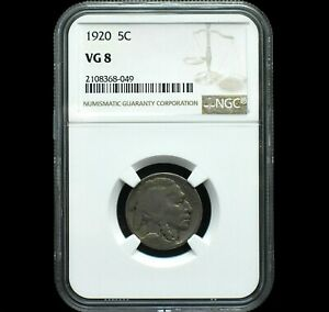 1920 Buffalo Nickel~NGC VG8~Rare Beauty~Only 3 with this Grade~!