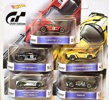 Hot Wheels Retro Entertainment 2016 Complete Set Nissan Lamborghini Gran Turismo