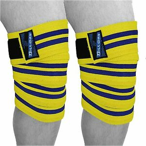Power Weight Lifting Knee Wraps Support Sleeves Gym Pads Fist Strap Training