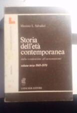 LIBRO STORIA DELL'ETA' CONTEMPORANEA L.SALVADORI LOESCHER VOL III 1945 1970 1988