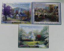 """Thomas Kinkade > Set Of 3 (8"""" by 6-3/4"""") Collectible Thomas Kinkade Plates"""