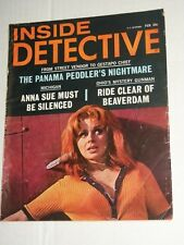 Vintage INSIDE DETECTIVE Vol 46 #2 February 1968 Knives Thrown at Big Tit Babe!