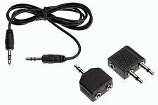 Audio Adaptor 3.5mm Jack Plug / Splitter / Cable  MP3  Aricraft  Travel 3 Pc Set