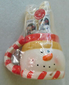 Vanilla Frosty Gift Set Bubble Bath Body Lotion Loofah Snowman Mug Christmas