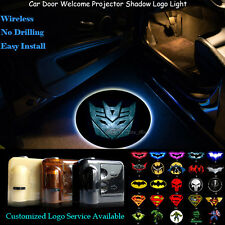2x Wireless Car Door Laser Projector 3D Transformers Decepticon Logo Led Light (Fits: Firefly)