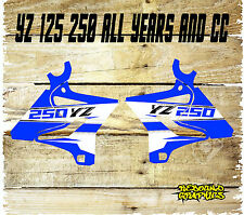 Yamaha YZ YZF 85 125 250 450 Rad Cucharadas Motocross Gráficos Pegatinas-Calcomanías-Azul