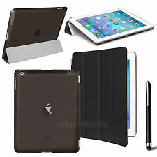 Slim Leather Magnetic Smart Cover Hard Back Case For APPLE iPad Air 2 3 4 mini