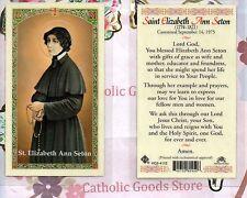 St. Saint Elizabeth Ann Seton with Prayer - Laminated Holy Card