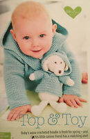 CROCHET PATTERN Baby Hoodie + Matching Dog Toy in Hooded Jumper Sublime DK