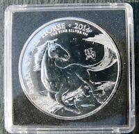 2 Pounds Chinesisches Jahr des Pferdes Großbritannien 1 oz Silber 2014