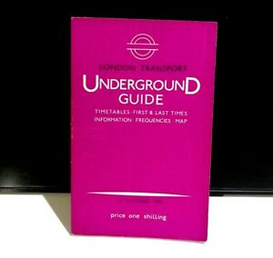 London Underground Guide Tube Timetable October 1966 Vintage Railway Schedules