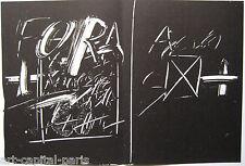 TAPIES ANTONI LITHOGRAPHIE ORIGINALE 1974 DERRIÈRE LE MIROIR N°210 LITHOGRAPH