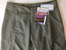 Cloudveil Womens 8 Cool Convertible Pants Shorts Nylon Outdoor Sports UPF45+ New