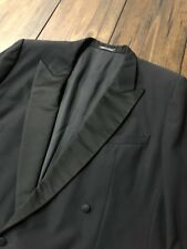 Ermenegildo Zegna Peak Lapel Satin Tuxedo Jacket Double Breasted • Italy • 42 R