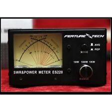 ES220 V2 SWR Meter Power Meter 1000W VHF/UHF Dual Band 140-480MHz AVG/PEP Meter