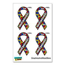 Autism Awareness Puzzle Ribbon - Set of 4 - Window Bumper Locker Sticker