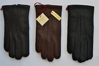 Dents Mens Kent imipec peccary Leather Gloves. black,brown & English tan. 5-1561