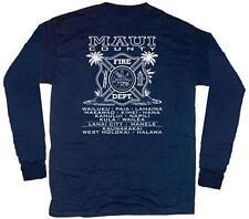 Maui Fire Department Hawaii T-shirt  XL Long Sleeves