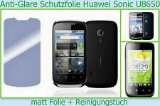 3x Huawei Sonic U 8650 Handy Anti reflex Glare Display schutz folie 3-lagig matt
