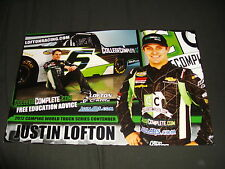 2012 JUSTIN LOFTON #6 COLLEGE COMPLETE NASCAR POSTCARD