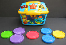 Baby Einstein Treasure Chest Count Discover Toy 7 Coins 3 Languages Color Shapes