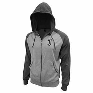 Juventus FC Lightweight Full Zip Hoodie Jacket - Grey