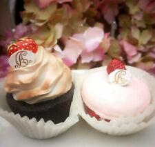 2 x Petit Fours Klein Törtchen Macarons Rosa Beere Patisseri Cupcake Fake Kuchen