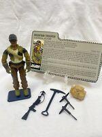 "GI Joe ARAH Alpine Mountain Trooper 1985 3.75"" Near Complete with File Card."