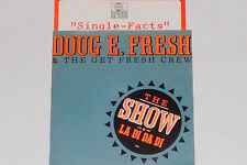 """DOUG E. FRESH AND THE GET FRESH CREW - 7"""" 45 mit Product Facts Promo-Flyer"""