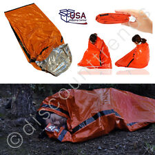 Heavy Duty Emergency Solar Thermal Sleeping Bag Bivvy Sack Survival Camp Blanket