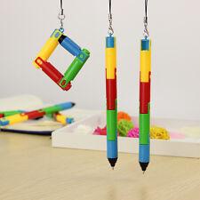 2pcs/kit Foldable Unique  Ballpoint Pen Creative Bending Twists Pens Stationery
