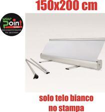ESPOSITORE ROLL UP ROLLUP BANNER 150X200 NO STAMPA SOLO BIANCO  BORSA MONTAGGIO.