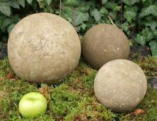 2 Steinkugeln Steinguß 11+14 Sandstein frostfest Stein Kugel Gartenobjekt