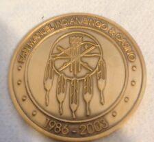 San Manuel Indian Bingo & Casino 17th Anniversary Token Mint Condition In Case!