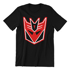 TRANSFORMERS VINTAGE DECEPTICON Logo Adult Men's Graphic Tee Shirt