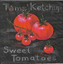 Lot de 2 Serviettes en papier Tomates Decoupage Collage Decopatch