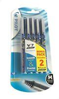 Pilot Hi-TecPoint V7 VBall 0.7mm Liquid Ink Rollerball Writing Pen BLUE 5 Pack