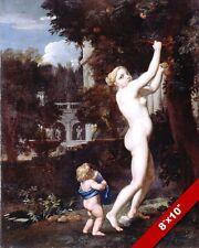 GREEK GODDESS VENUS GATHERING APPLES ROMAN STYLE PAINTING ART REAL CANVAS PRINT