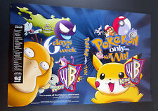 "Pokemon Animated Series Promo Poster Local TV Channel WB 1999 14.5"" x 22"""