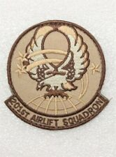 Usaf Air Force Patch: 201st Airlift Squadron (desert) - w/hook & loop back