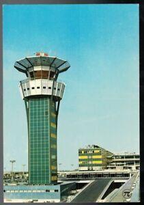 VINTAGE AEROPORT DE PARIS ORLY LE NOUVELLE TOUR DE CONTROLE FRANCE POSTCARD