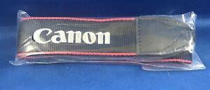 """NEW Canon Camera Neck Strap EW-400D 1.25"""" Black/Red Stitched Silver """"Canon EOS"""""""