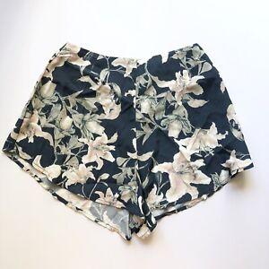 New Beach Riot Blue Lilly Floral Print High Waist Dahlia Shorts Sz S NWT