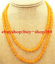 "New Pretty  6mm Brazil Topaz Gemstone Beads Necklace 36 ""AA"