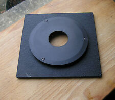 genuine Sinar F & P top hat 8mm lens board panel with copal compur 0 hole